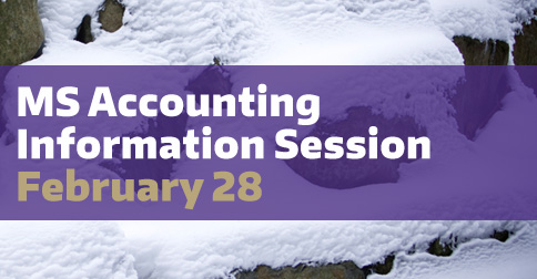 MS Accounting Program Information Session
