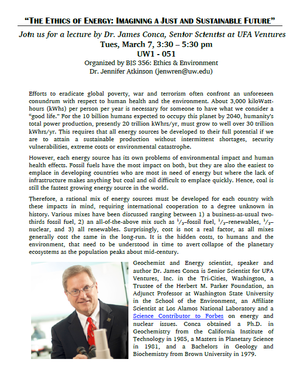 The Ethics of Energy: Imagining a Just and Sustainable Future featuring Dr. James Conca