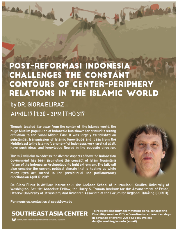 Post-reformasi Indonesia Challenges the Constant Contours of Center-Periphery Relations in the Islamic World