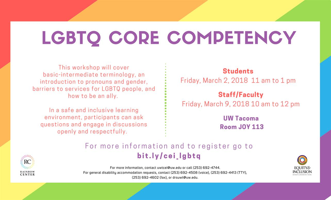Staff/Faculty: LGBTQ Core Competency Workshop