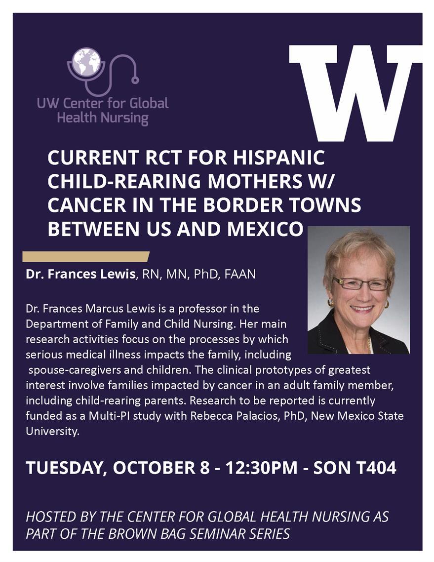 Global Health Nursing Seminar with Dr Frances Lewis