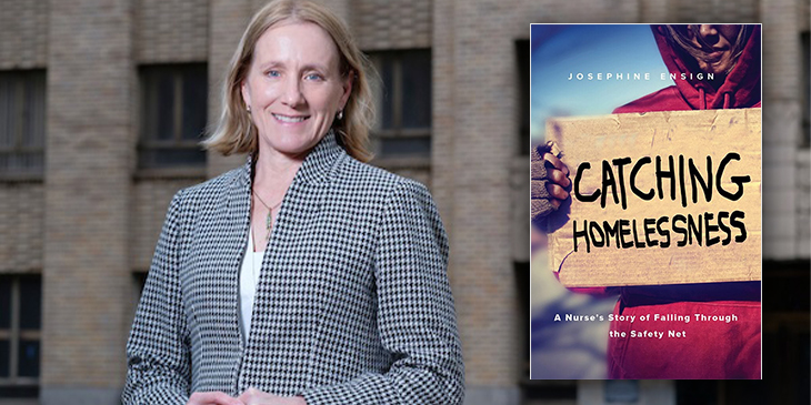 "Common Book Author Josephine Ensign will discuss her book ""Catching Homelessness"""