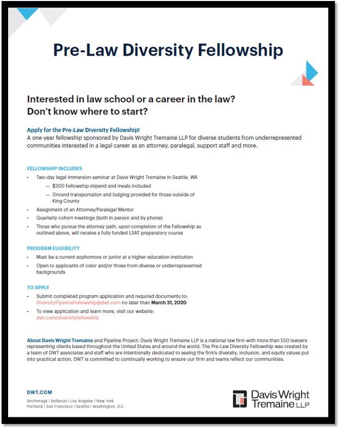 Pre-Law Diversity Fellowship Info Session