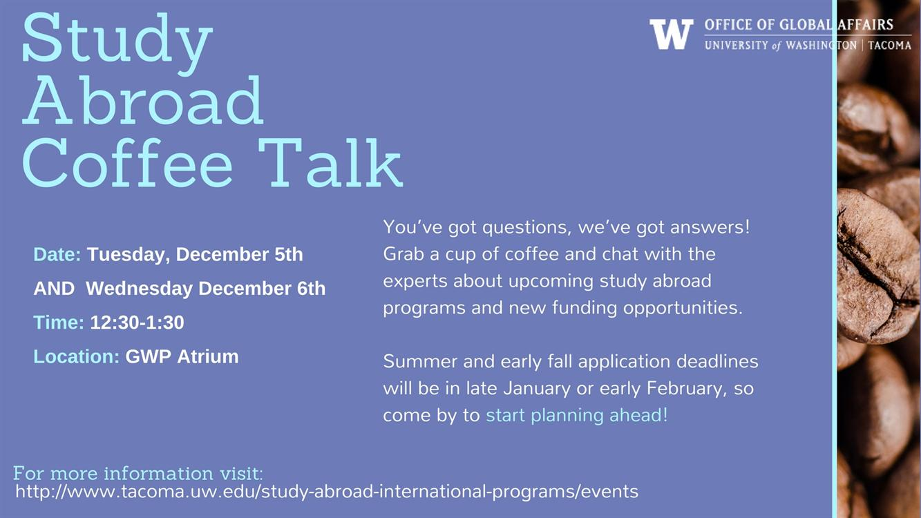 Study Abroad Coffee Talk