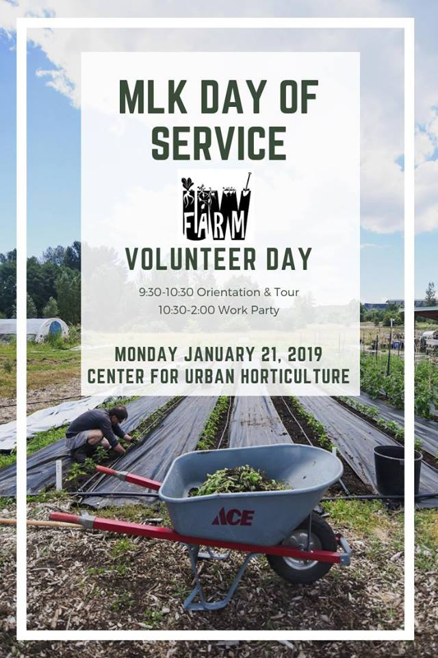 UW Farm MLK Day of Service & Orientation