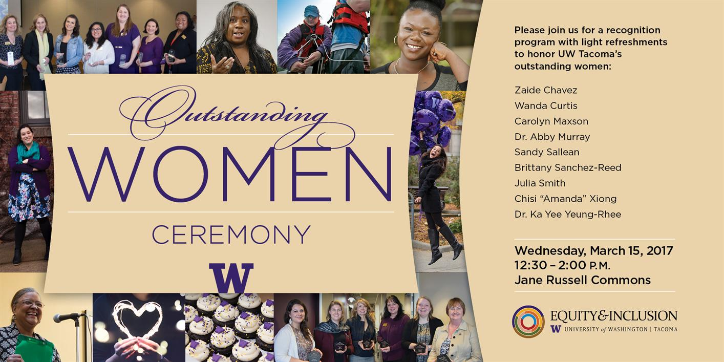 UWT Outstanding Women Ceremony