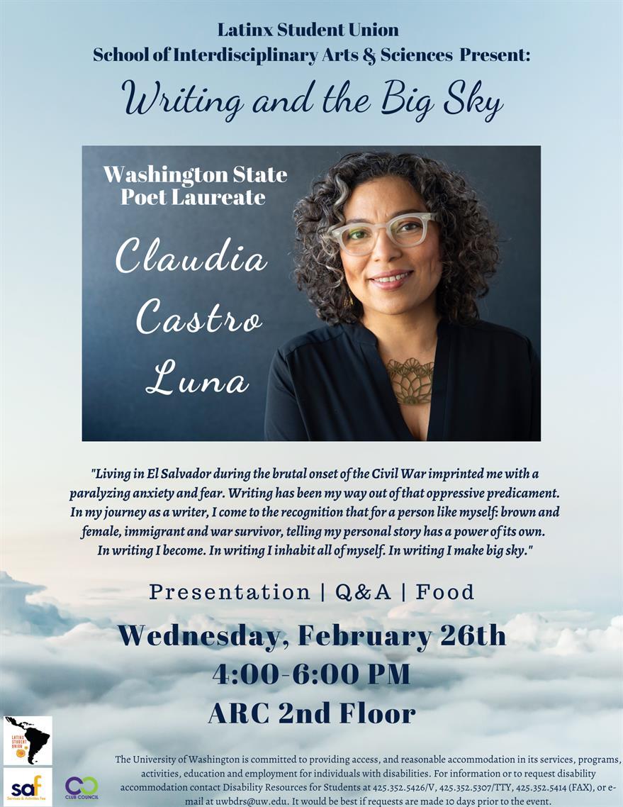 """Claudia Castro Luna: """"Writing and the Big Sky"""""""