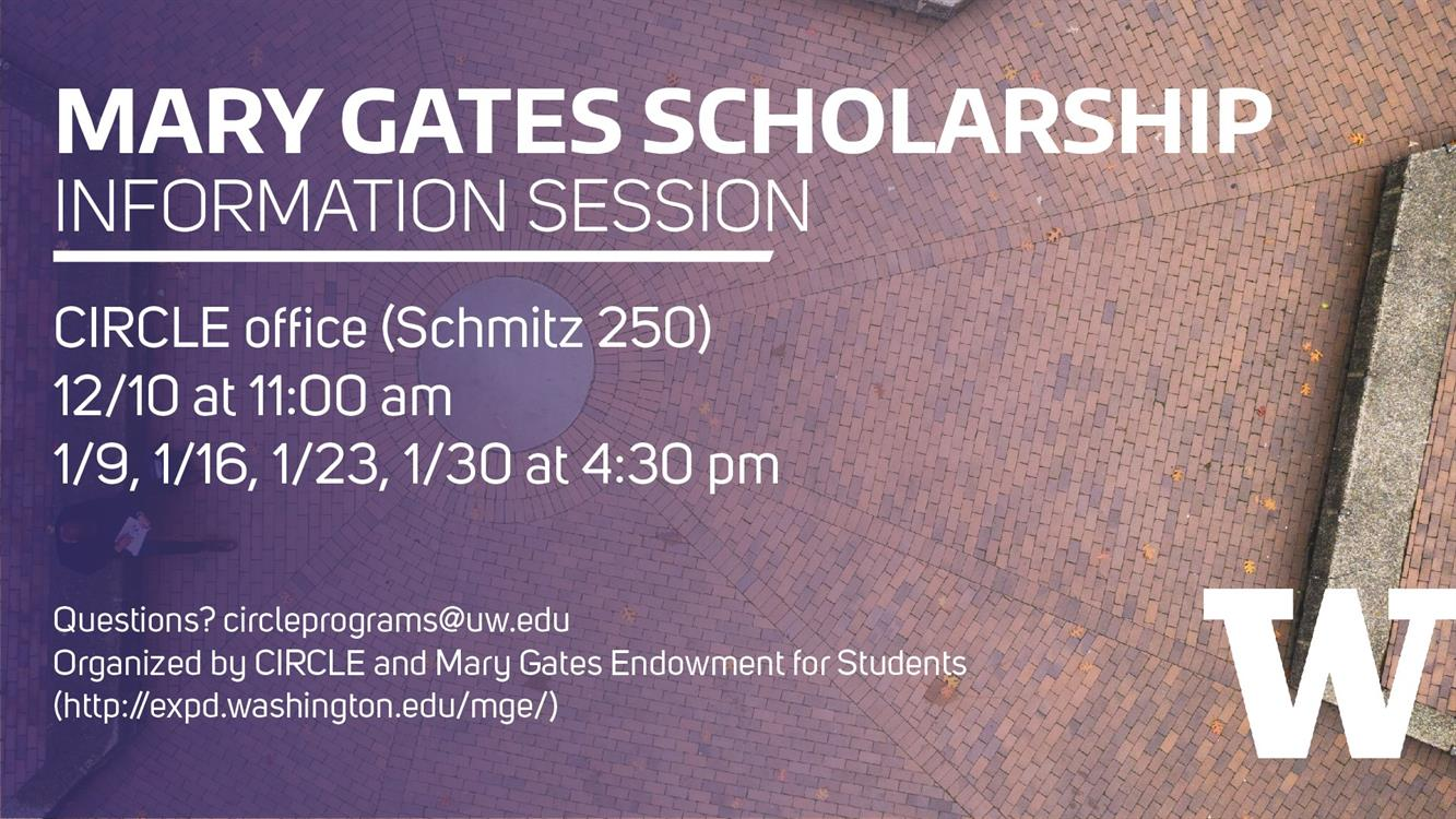 Mary Gates Endowment Scholarship Info Session