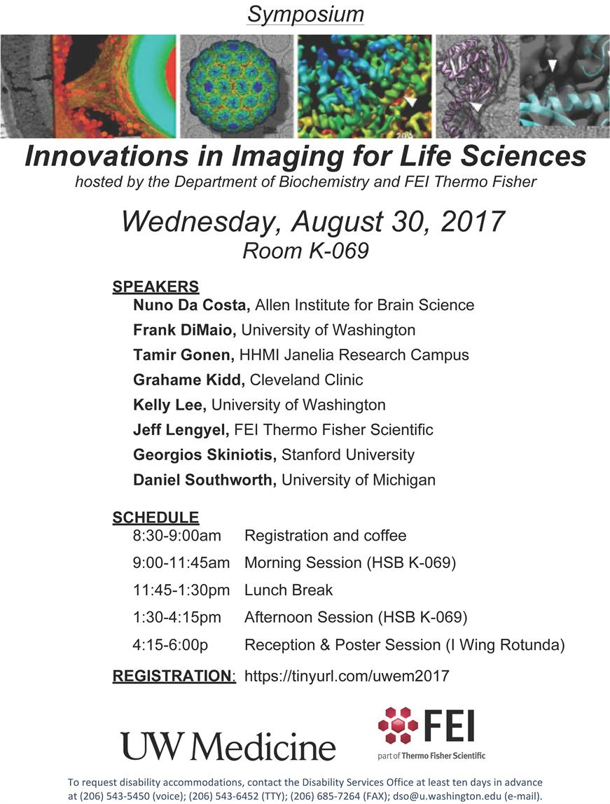 Second Annual Innovations in Imaging for Life Sciences Symposium hosted by the Department of Biochemistry at the UW School of Medicine and FEI ThermoFisher