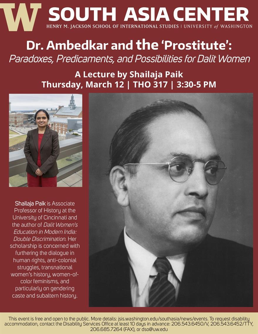 CANCELED - Dr. Ambedkar and the 'Prostitute' - Shailaja Paik