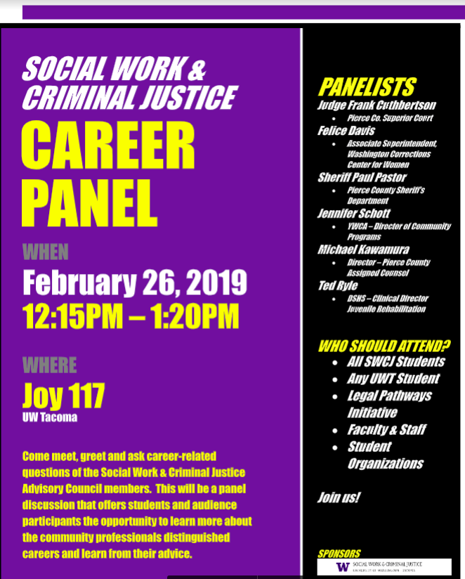Social Work & Criminal Justice Career Panel