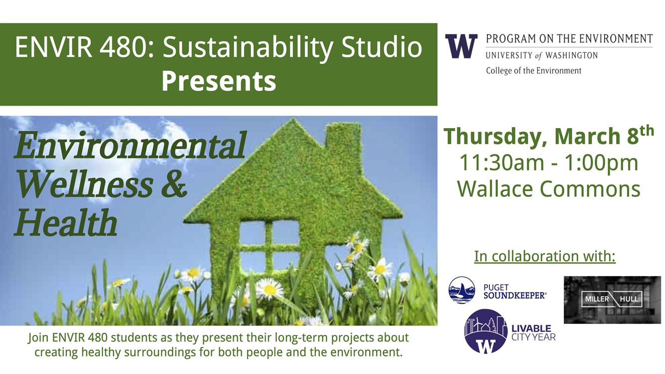 Sustainability Studio presentations: Environmental Wellness & Health