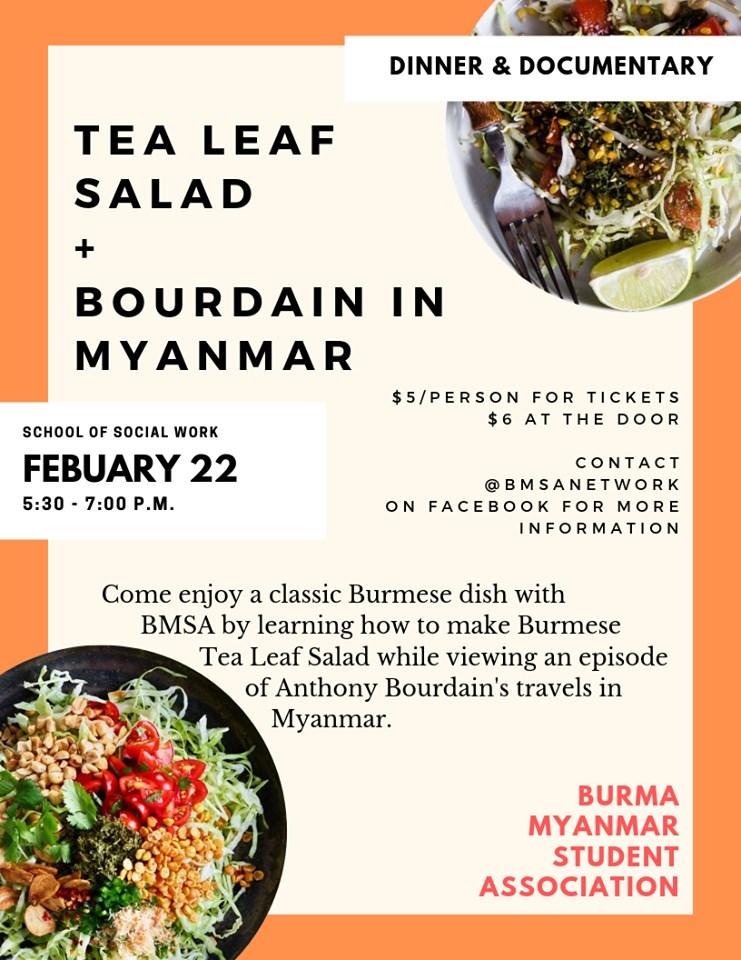 "Tea Leaf Salad + ""Bourdain in Myanmar"""