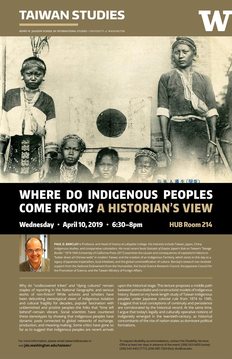 Where Do Indigenous Peoples Come From? A Historian's View with Professor Paul Barclay