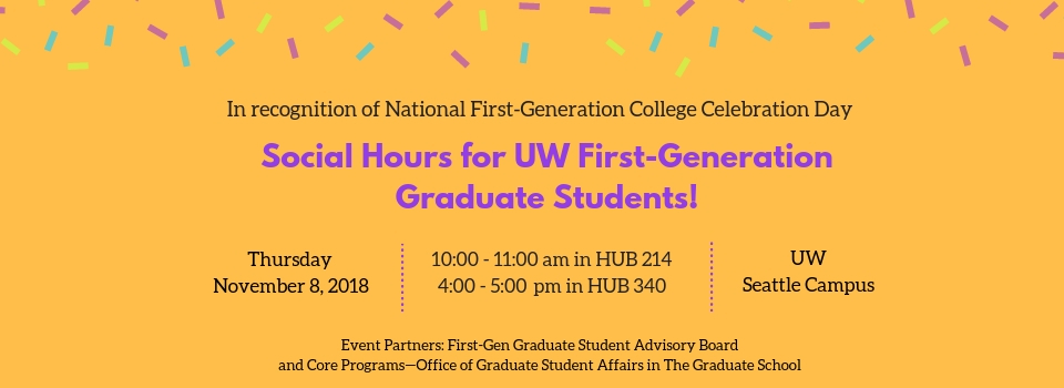 Social Hour for UW First-Gen Graduate Students