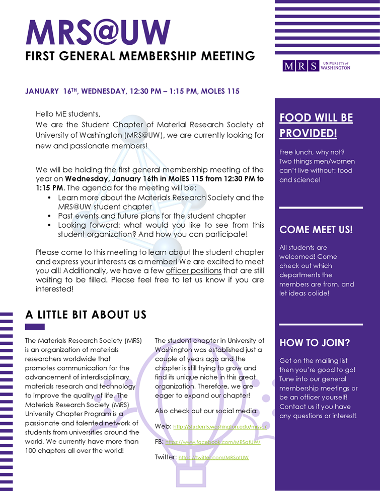 Materials Research Society first general membership meeting