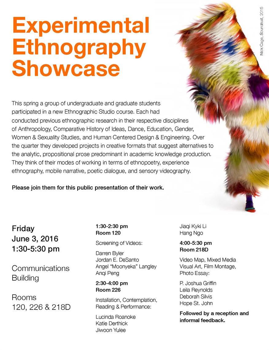 Experimental Ethnography Showcase
