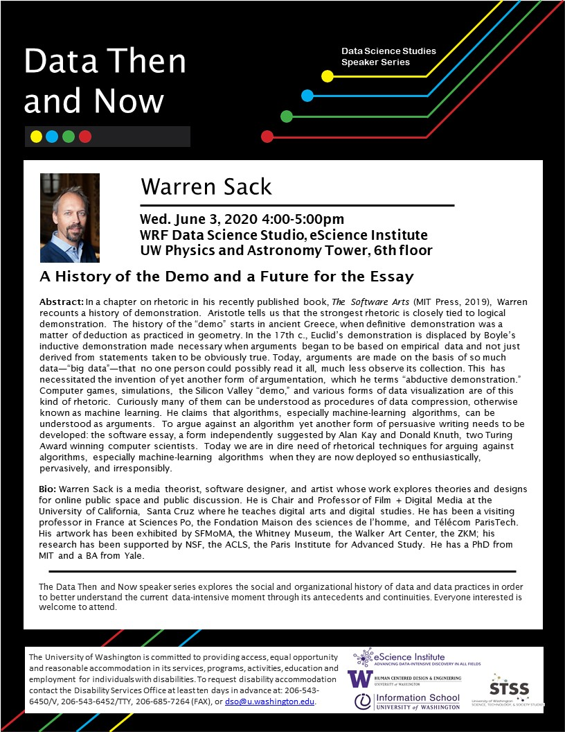 """""""A History of the Demo and a Future for the Essay"""" by Warren Sack"""