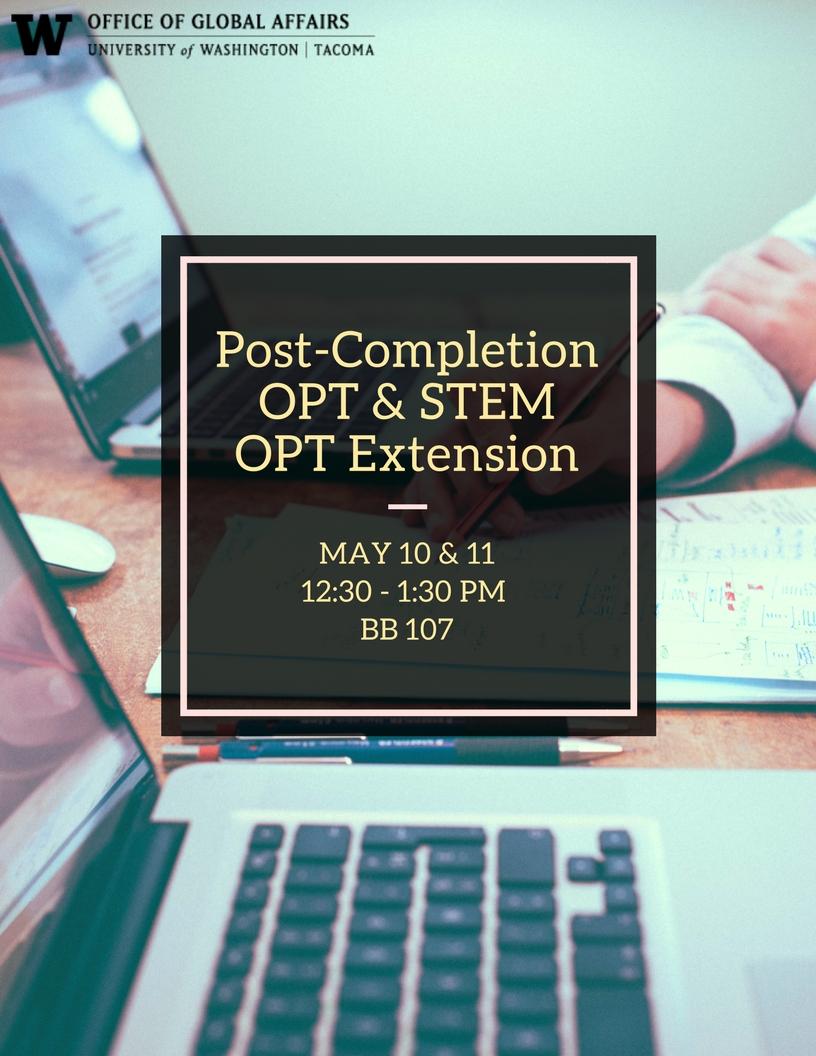 Post-Completion OPT & STEM Extension OPT Workshop