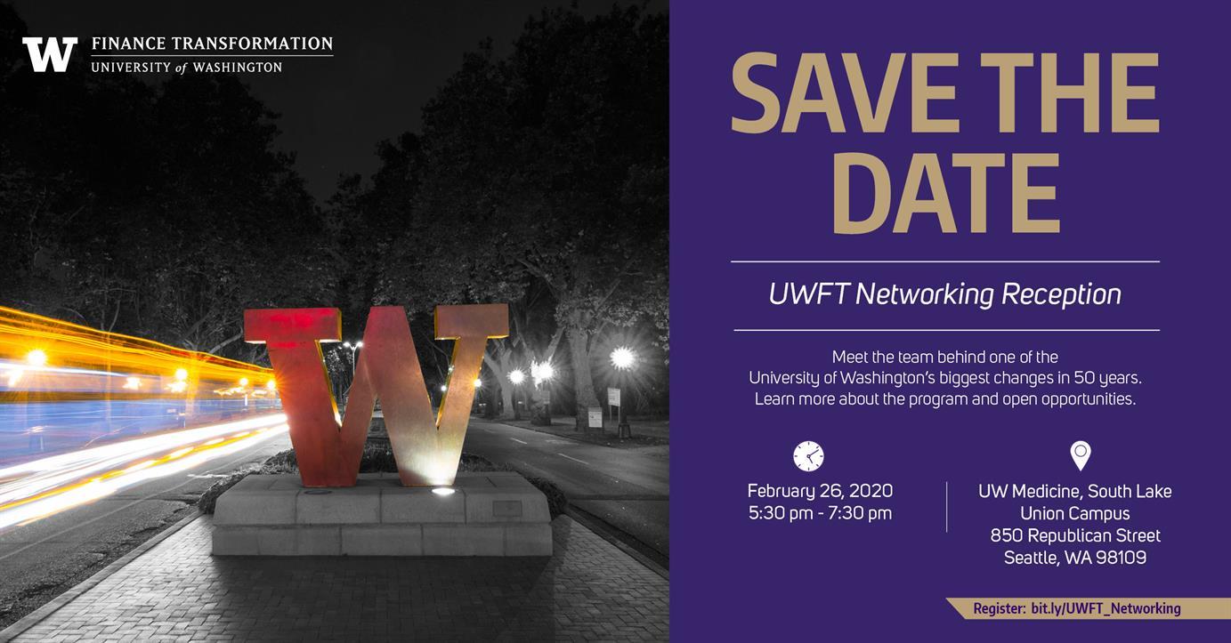 UW Finance Transformation Networking Reception