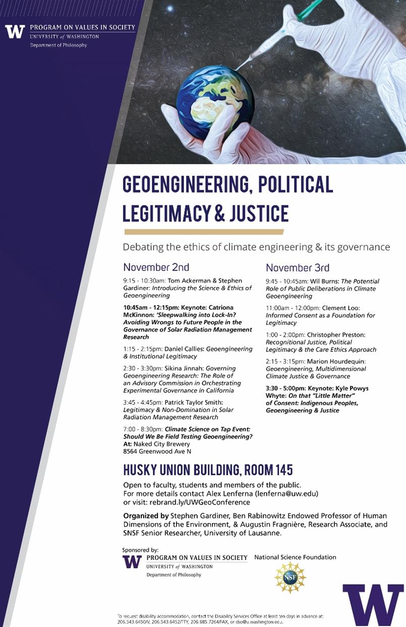 Geoengineering, Political Legitimacy & Justice Conference