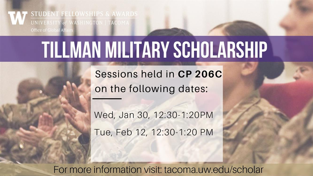 Info Session: Tillman Military Scholarship