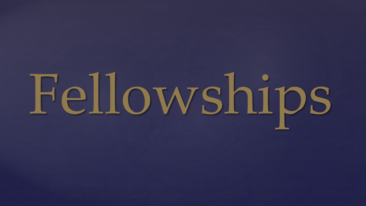 Info Session: Intro to Fellowships