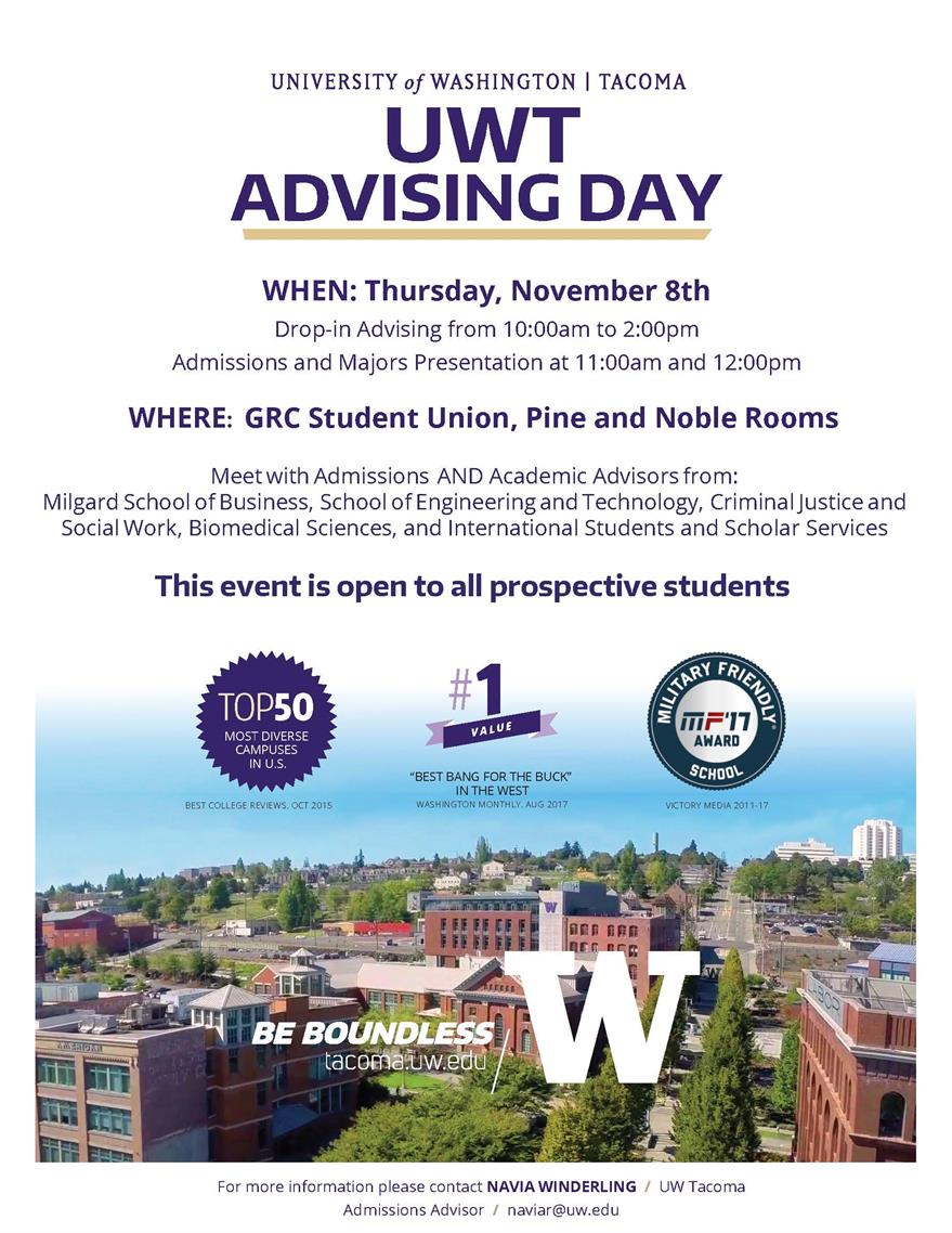 UWT  Advising Day at Green River College