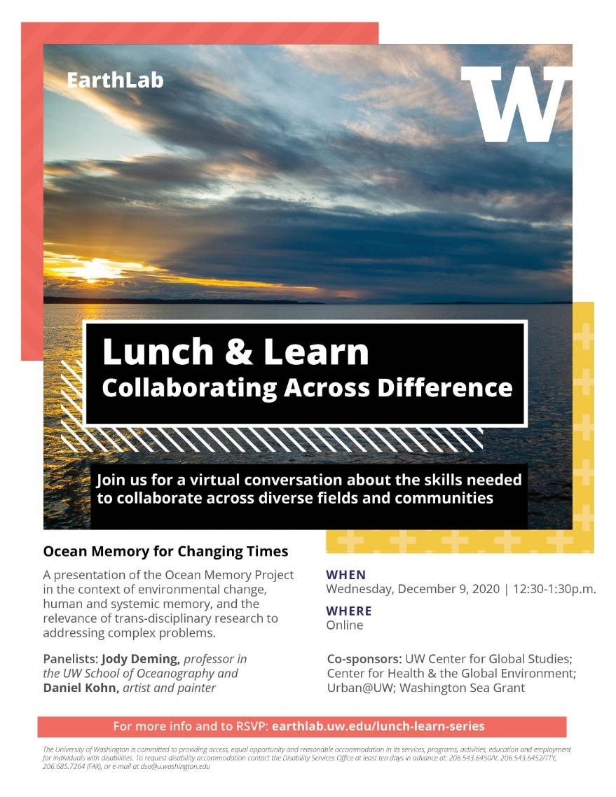 EarthLab Lunch and Learn: Ocean Memory for Changing Times
