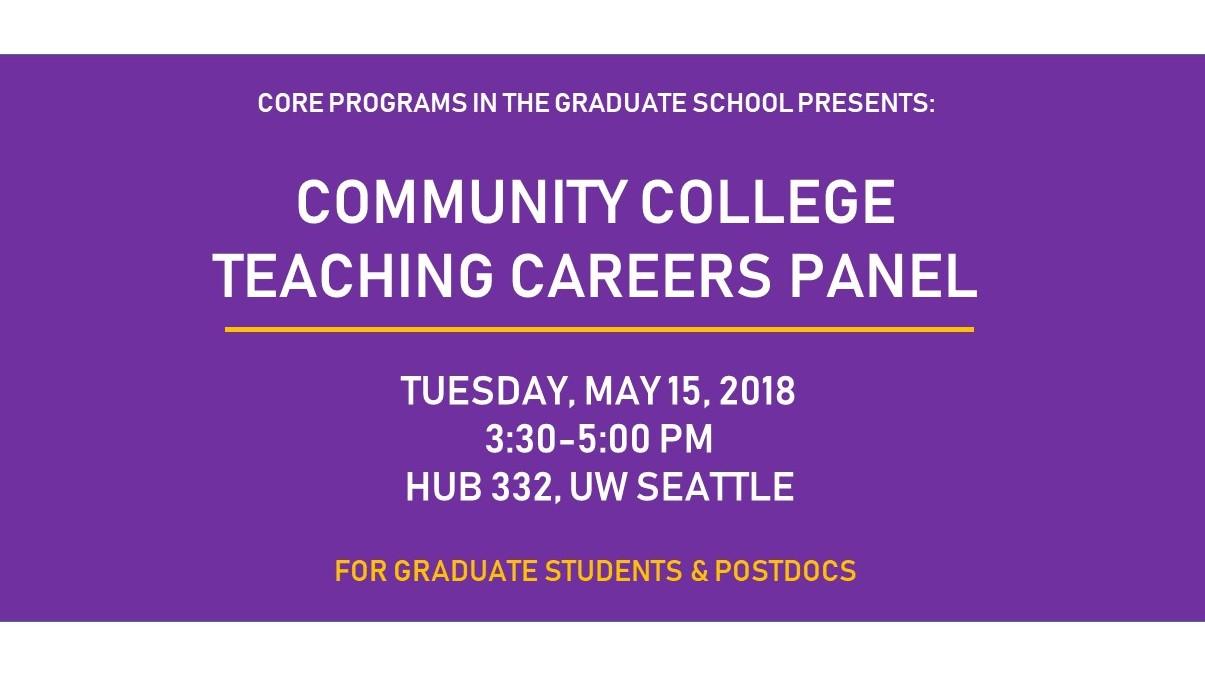 Community College Teaching Careers Panel