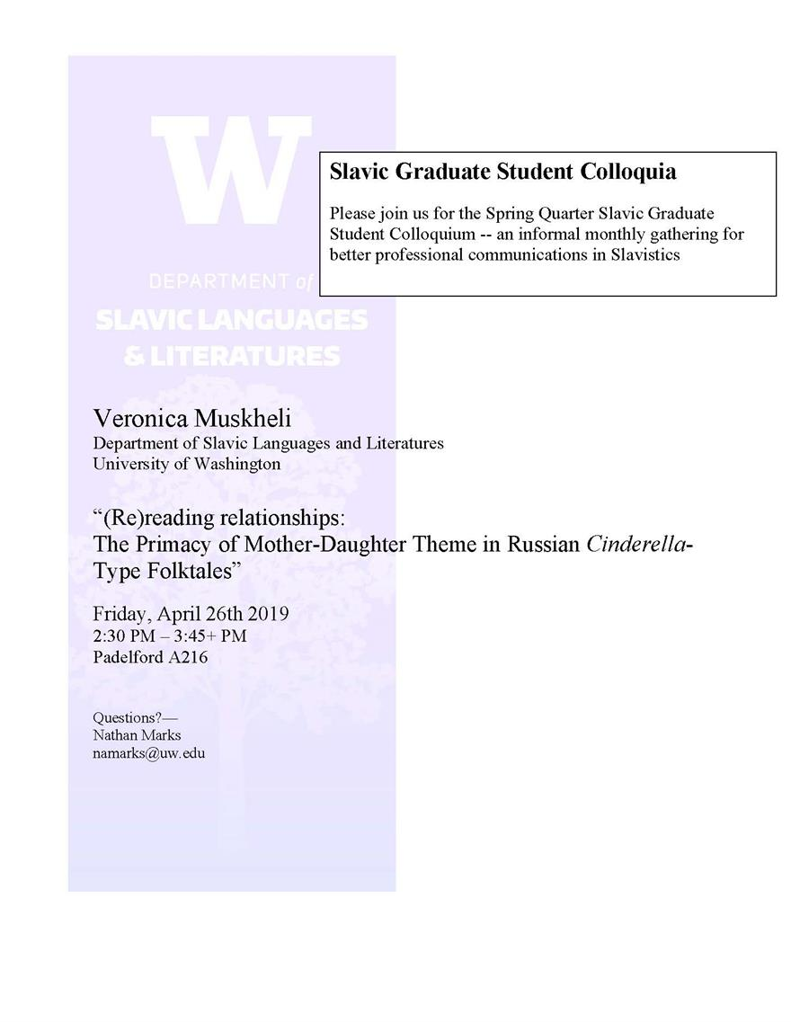 Slavic Grad Student Coilloquia