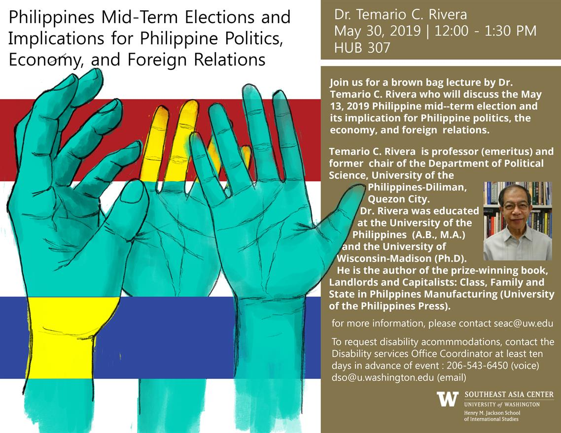 Philippine Mid-Term Elections and  Implications for Philippine Politics, Economy, and Foreign Relations