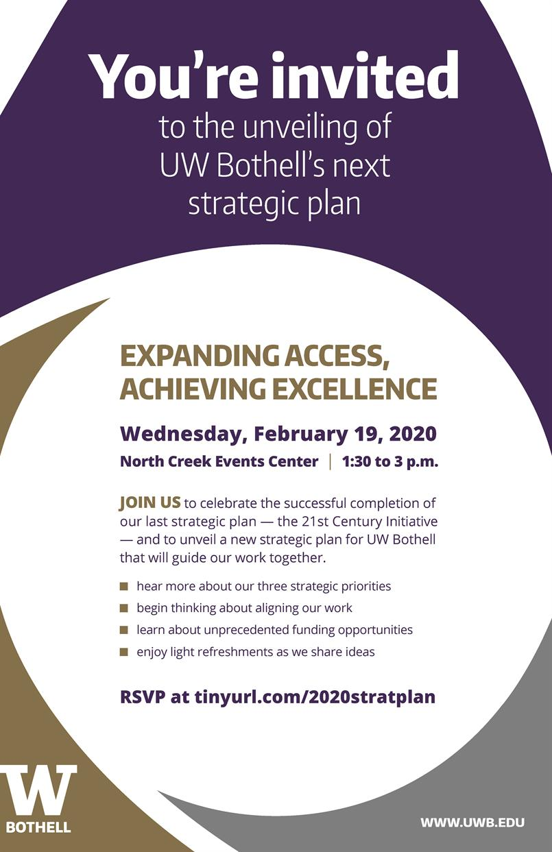 You're invited: Unveiling of UW Bothell's next strategic plan