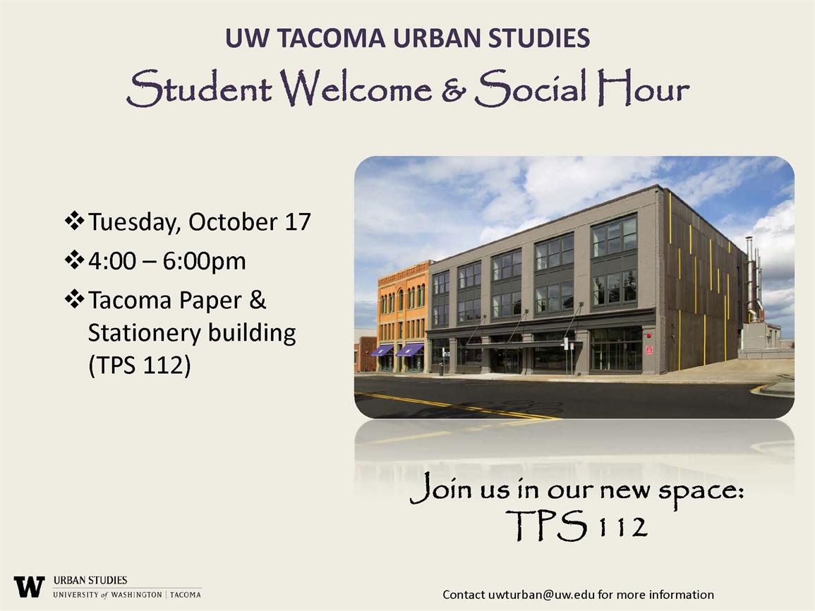 Autumn Student Welcome & Social Hour