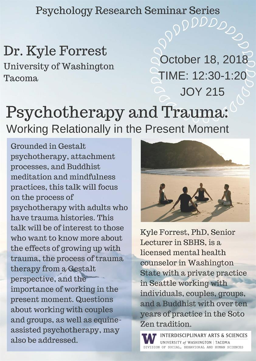 Psychology Research Seminar Series: Psychotherapy and Trauma