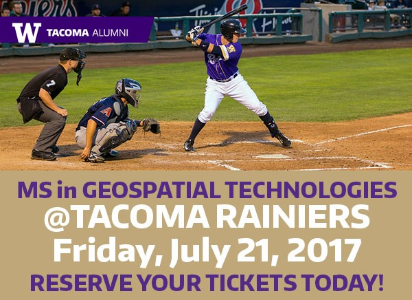 MS in Geospatial Technologies Night @ the Rainiers
