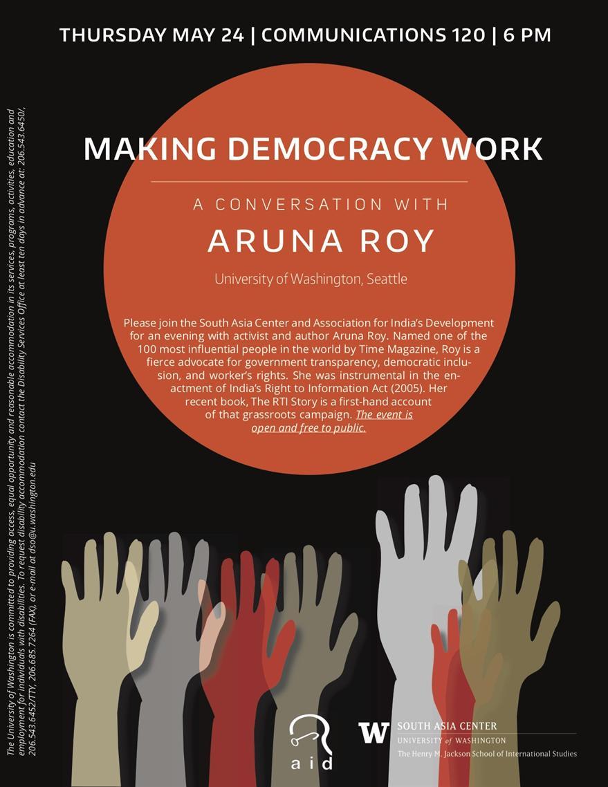 A Conversation with Aruna Roy: Making Democracy Work
