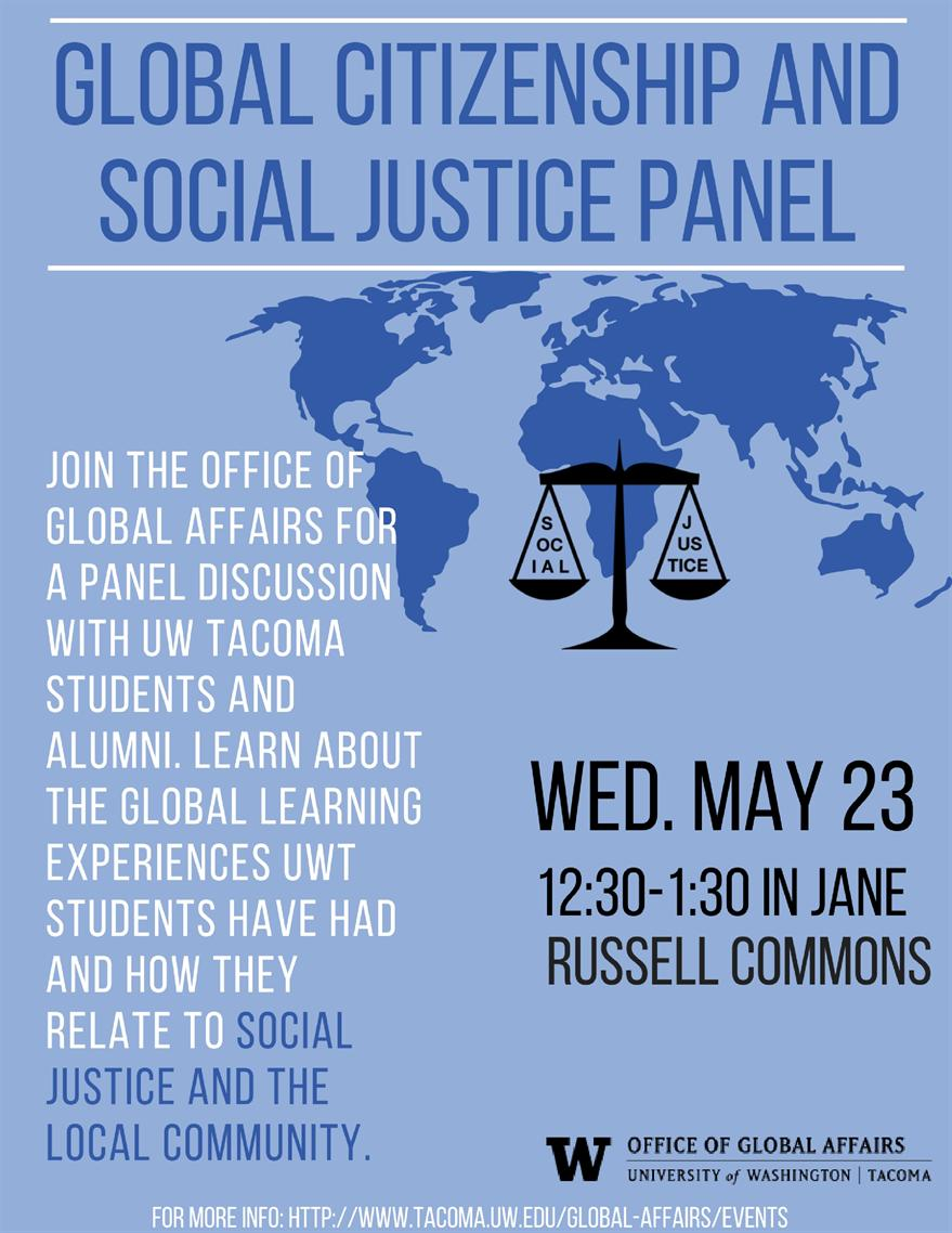 Global Citizenship and Social Justice Panel