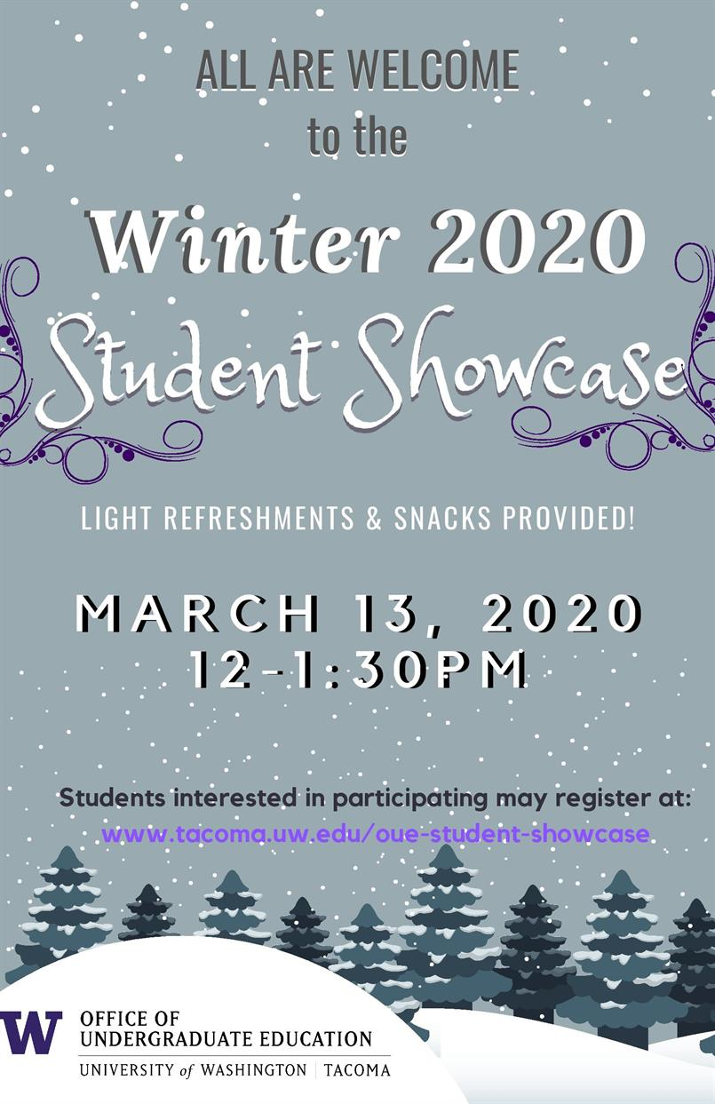 Winter Undergraduate Student Showcase