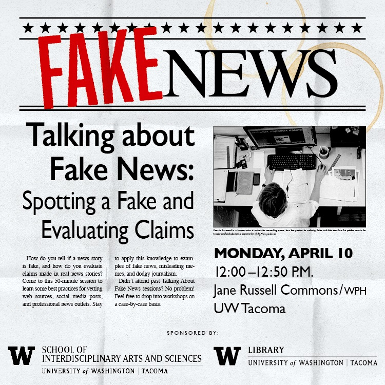 Talking About Fake News: Spotting a Fake, Evaluating Claims