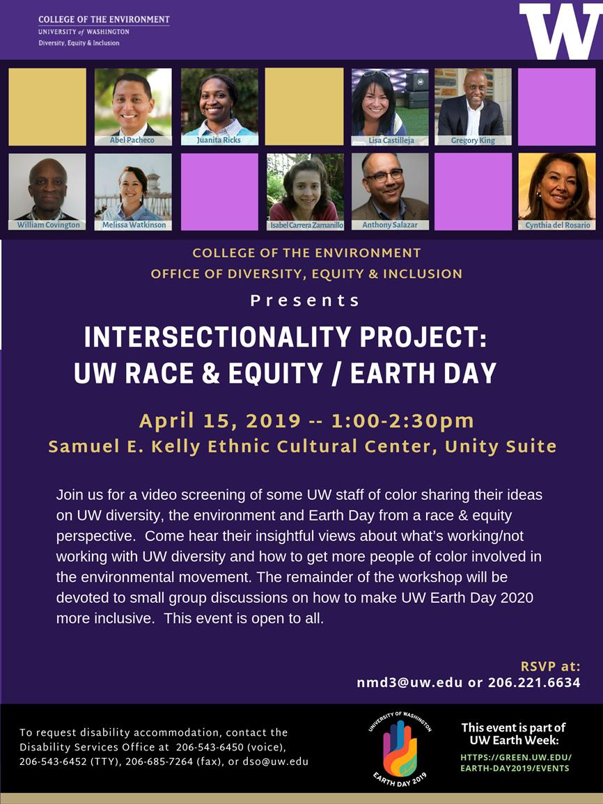 Intersectionality Project: UW Diversity & Earth Day