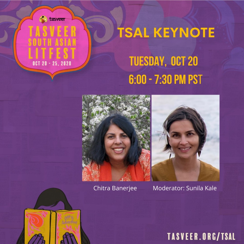 Tasveer South Asian LitFest Keynote: Author Chitra Banerjee Divakaruni in conversation with Sunila Kale [ONLINE]