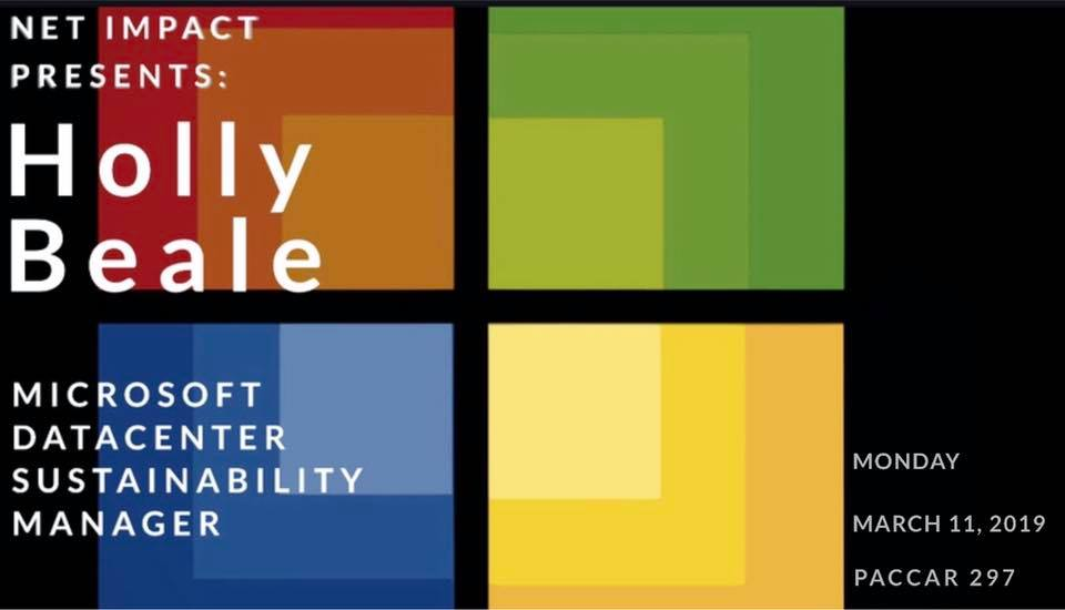 Net Impact Presents: Sustainability in Tech with Microsoft