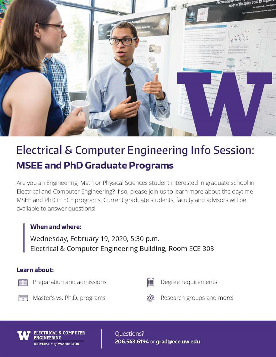 ECE Info Session: MSEE and PhD Graduate Programs