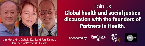 Global health and social justice discussion with the founders of Partners in Health