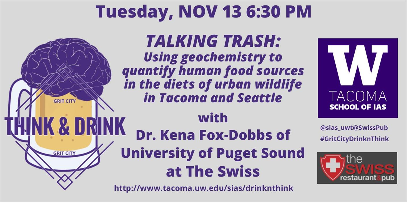 Talking trash: Using Geochemistry to Quantify Human Food Sources in the Diets of Urban Wildlife in Tacoma and Seattle--Grit City Think&Drink