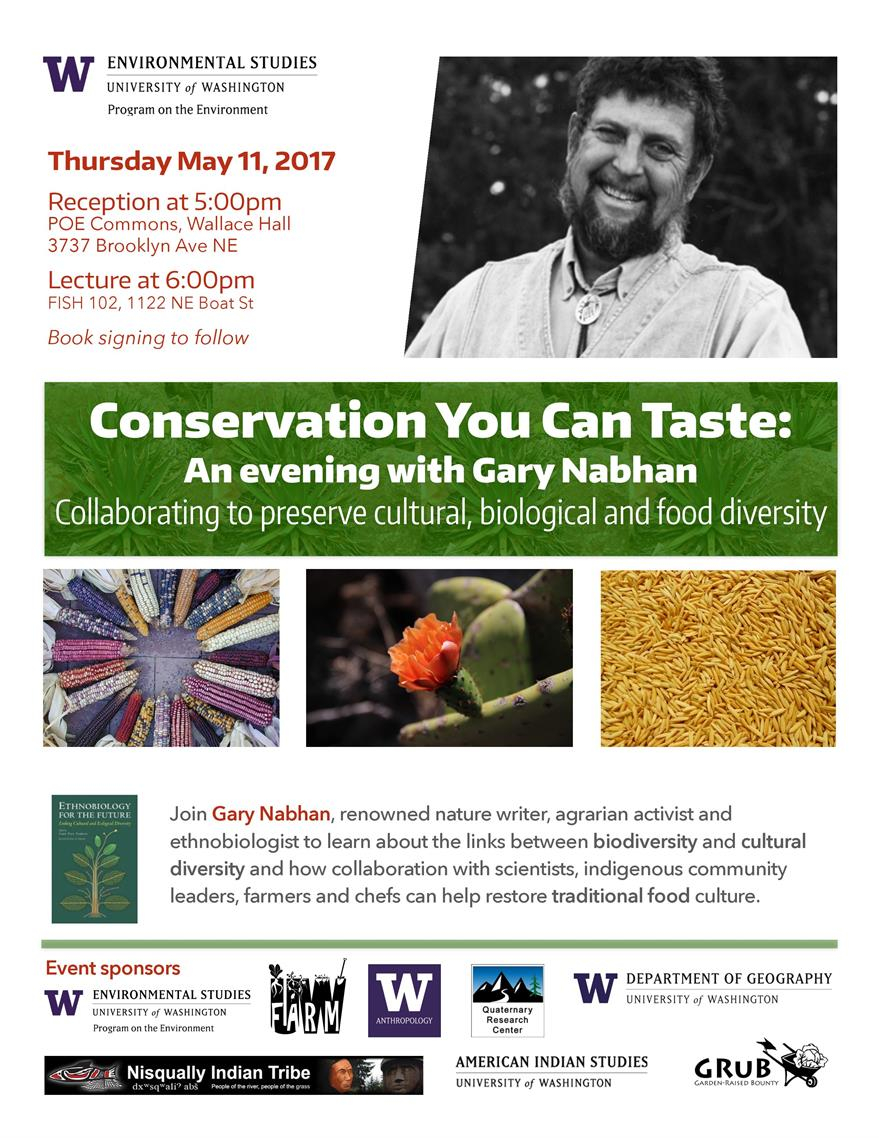 Conservation You Can Taste: An Evening with Gary Nabhan