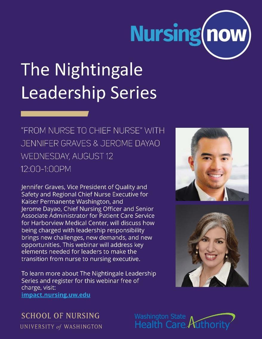 """Nightingale Leadership Series - """"From Nurse to Chief Nurse"""""""