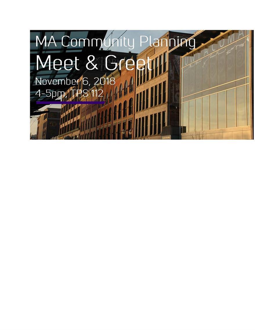 MA in Community Planning Meet & Greet