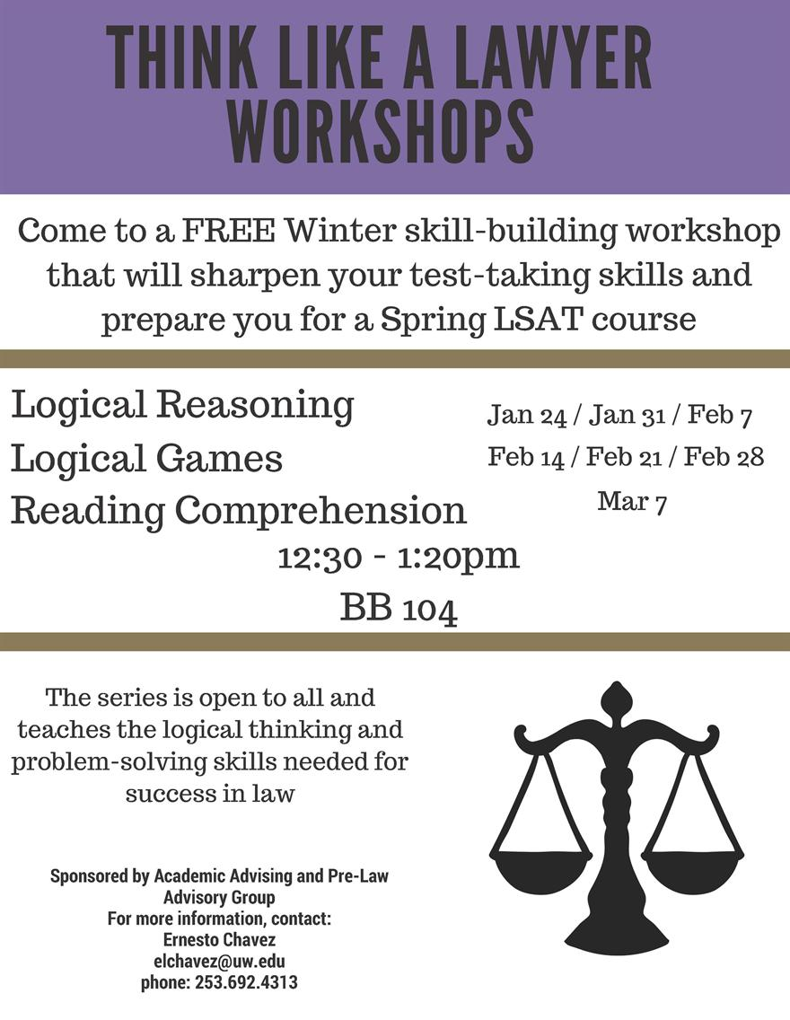 Think Like a Lawyer Workshops - Logical Reasoning